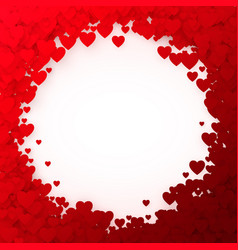 red heart frame heart confetti frame for banner vector image