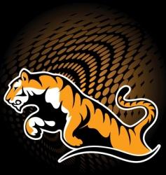 Tiger sticker vector
