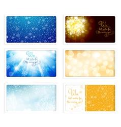Christmas and New Year Greeting eCard vector image vector image