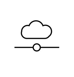 cloud network icon vector image
