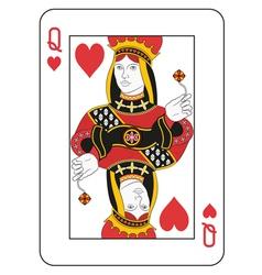 Queen of hearts vector