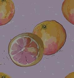 seamless pattern grapefruit vector image