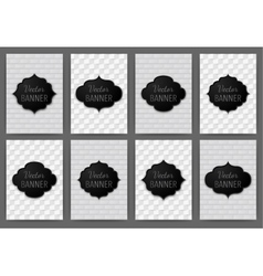 set of invitations banner a4 vector image vector image