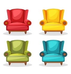 armchair soft colorful homemade set 2 vector image vector image