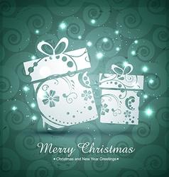 christmas giftbox design vector image vector image