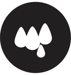 Drop of water icon vector image