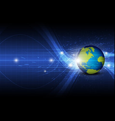 global technology background vector image vector image