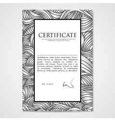 Graphic design template document with hand-drawn vector image