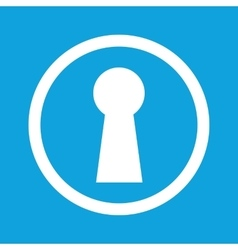 Keyhole sign icon vector image vector image