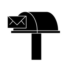 postbox email delivery icon vector image vector image