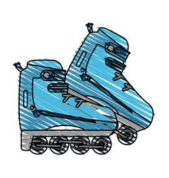 rollerblades vector image