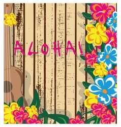 Summer Hawaii Card vector image