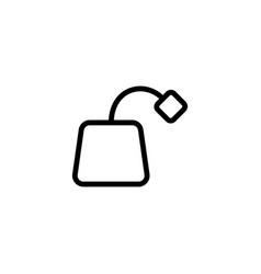 thin line tea bag icon vector image