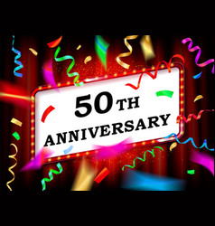 50 years with anniversary vector