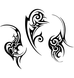 Abstract tribal tattoo design vector image
