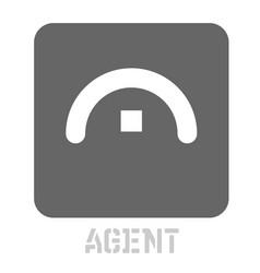 Agent conceptual graphic icon vector