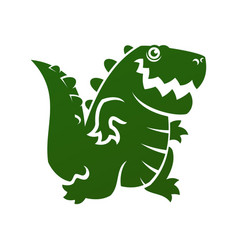 Alligator or dinosaur silhouette cut out icon vector