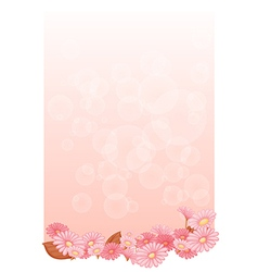 An empty pink colored stationery vector image