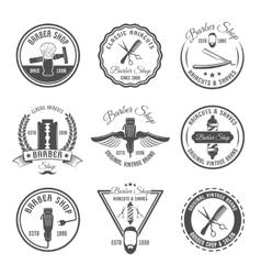 Barber Emblem Or Label Set vector image