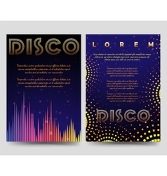 Bright disco brochure flyers template vector