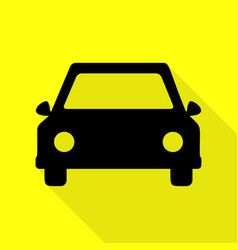 car sign black icon with flat style vector image
