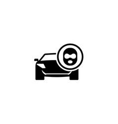 Car thief flat icon vector