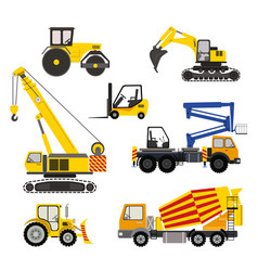 cartoon road machinery vector image