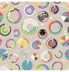 Circle chart seamless pattern vector