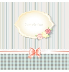 Classic romantic invitation or congratulation card vector
