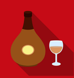 cognac icon in flat style isolated on white vector image