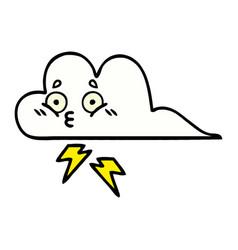 Comic book style cartoon thunder cloud vector