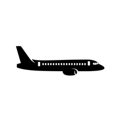 Commercial plane silhouette vector