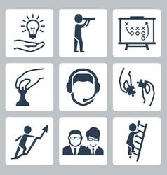 conceptual icon set success business metaphors vector image