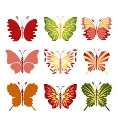 Decorative butterflies vector image
