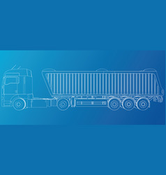 Dump truck tipper lorry on transparent vector