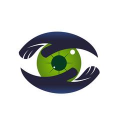 Eye care logo design template vector