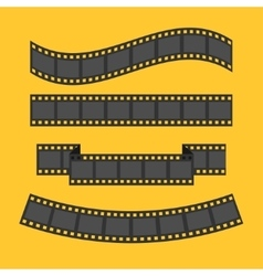 Film strip frame set Different shape ribbon vector image