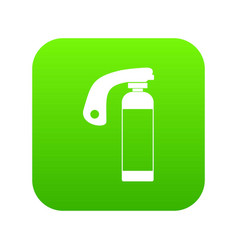 fire extinguisher icon digital green vector image