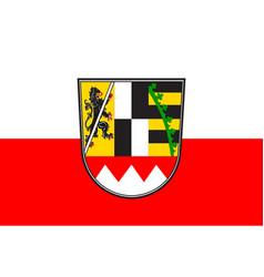 Flag of upper franconia in bavaria germany vector