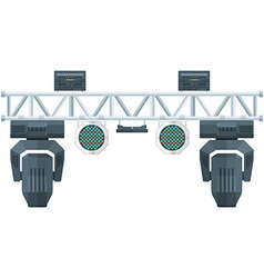 flat style stage metal truss concert lighting vector image