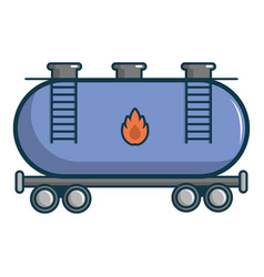 Gasoline railroad tanker icon cartoon style vector