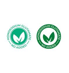 Glutamate no added icon contain no msg monosodium vector