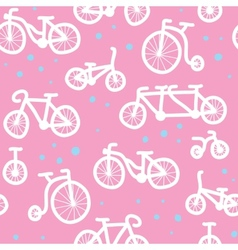 Hand drawn bicycle pattern vector image
