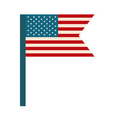 happy independence day american flag in pole vector image