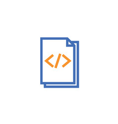 html document paper outline icon isolated note vector image