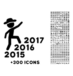 Human Figure Steps Years Icon vector
