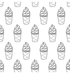 Ice Cream Easy Pattern Linear-02 vector