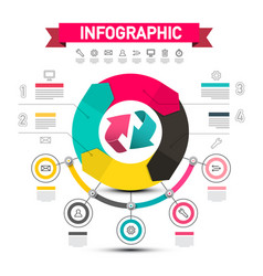 infographic design with arrows data flow chart vector image
