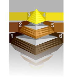 infographic pyramid vector image