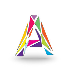 initials letter a full of colors with a vector image